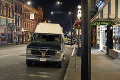 Victoria (Curtis Gregory Perry) Tags: victoria bc van gmc night long exposure johnson street canada nikon d810 skull grille