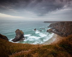 Chasing Rocks is best left to Geologists (markrd5) Tags: cornwall bedruthansteps seascape sea thrift nikon longexposure le clouds cumulostratus nephology geology anythingology wrs