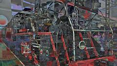 BaikalReise 75n (wos---art) Tags: bildschichtung russland transsibirische eisenbahn historisch ausgemustert stillgelegt schrottplatz ausgestellt präsentiert maschinengeschichte