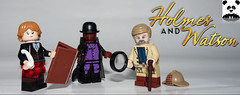 Holmes and Watson (Random_Panda) Tags: lego figs fig figures figure minifigs minifig minifigures minifigure purist purists character characters toy holmes sherlock john joan jane watson moriarty professor james contest