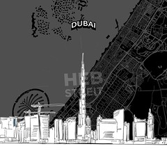 [Maps and Sketches] Dubai skyline with map (Hebstreits) Tags: alarab architecture areal background black building burikhalifa business city cityscape design destination detailed drawing drawn dubai hand illustration jumairah landmark line map marina nightlife outline palm panorama pencil persiangulf plan poster road roof sights silhouette sketch skyline skylinewithmap style top tourism travel uae unitedarabemitates urban vector white worldislands
