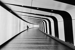 Somewhere (Rosetta Bonatti (RosLol)) Tags: london londra roslol uk tunnel kingscross bw blackandwhite candid girl biancoenero street streetphotography architecture architettura