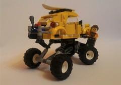 Baja (barneysharman) Tags: baja monster beetle vw surf camper dub vdub volksrod bug car vehicle big lego moc