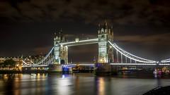 Tower Bridge (alme 27) Tags: clouds england europe london night river riverthames sky towerbridge uk water pentax k3ii sigmalens longexposure