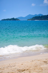 Beautiful beach in a sunny day, Koh Chang Island. (baddoguy) Tags: beach beauty in nature blue color image copy space crash famous place horizon over water infamous island koh chang no people outdoors pacific islands ocean photography rippled sand scenics sea seascape secret sky splashing summer thailand tranquil scene trat province travel destinations tropical climate vacations vertical wave