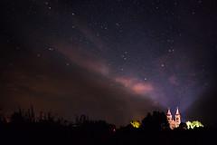 The Holy Light (Emart.) Tags: august stars church light night kalesninkai lithuania lietuva nature milkyway