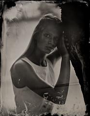 """Vicky"" (patrickvandenbranden) Tags: 5x7 petzval alternativeprocess ambrotype bw blackandwhite collodion collodionhumide feminity fineart largeformat monochrome nonamepetzval noiretblanc outdoor portrait procédéalternatif wetplate woman"