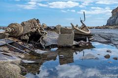 Admirals Reflection (daveseargeant) Tags: rock pool shipwreck seaside coast sea rocks whitby saltwick bay leica x typ 113
