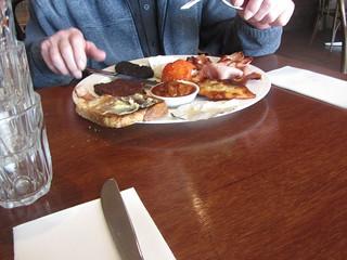 About Thyme Café, Mornington. The Big Scotsman Breakfast.