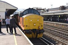 37421  Eastleigh 30/08/18 (Woolwinder) Tags: ukclass37 37421 colasrail networkrail testtrain eastleigh hampshire england uk lswr southernrailway q54 tonbridgeyard
