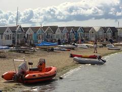 Beach Huts.... (markwilkins64) Tags: markwilkins seaside uk dorset hengistburyhead sea beachhuts beach boats huts