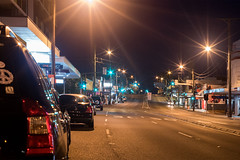 Heading South early (OzzRod) Tags: pentax k1 industar61lzmc50mmf28macro индустар61лз night lights artificiallight cars highway street belmont newcastle starbursts dailyinseptember2018