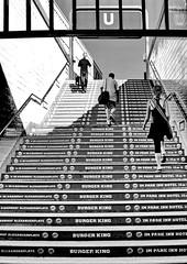 Berlin, Alexanderplatz (gerard eder) Tags: world travel reise viajes europa europe deutschland germany alemania berlin städte stadtlandschaft street streetlife streetart city ciudades cityscape cityview urban urbanlife urbanview subway subwaystation alexanderplatz stairs stairways blackandwhite blackwhite blancoynegro bw sw monochrome whiteblack advertising werbung publicidad outdoor