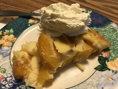 Peach clafoutis (TomChatt) Tags: food homecooking dessert