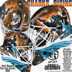 Sharks Rising (DAVEART MaskGallery) Tags: korenar nhl daveart san jose sharks