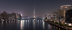 Sumida River Sky Tree - Tokyo, Japan (inefekt69) Tags: tokyo japan night nikon d5500 東京 日本 sumidariver buildings river panorama bridge 墨田 隅田川 sky tree