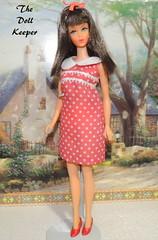 1967 Vintage Mod TNT Chocolate Bon-Bon Barbie (The doll keeper) Tags: 1967 vintage mod tnt chocolate bon barbie doll japanese exclusive red dress shoes