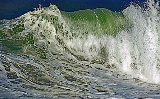 The wave is the kiss from the sea to the earth