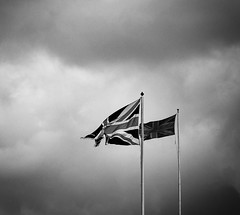 Flags (agendean) Tags: windsor flags berkshire bw blackandwhite sky clouds