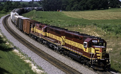 Up the Hill (ac1756) Tags: wisconsincentral wcl wc emd sd45 7606 346 byron byronhill wisconsin