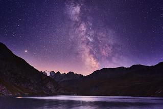 Milky Way at Moiry Glacier Lake, Valais