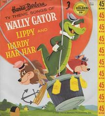 Wally Gator 45RPM ( Golden Records 1962 ) (Donald Deveau) Tags: goldenrecords record 45rpm lippythelion hardyharhar hannabarbera cartoon
