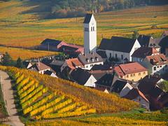 Katzenthal (Haut-Rhin, F) (pietro68bleu) Tags: alsace vignoble villagetypique automne église