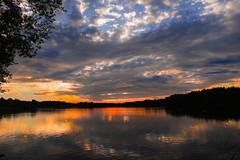 """ Sunset Dreiländersee "" (Kalbonsai) Tags: sunset nikond500 1680mm waterscape outdoorphotography water colors clouds dreiländersee gronau westf germany"