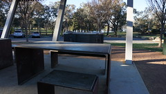 concrete topped steel BBQ tables (spelio) Tags: act canberra australia