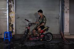 Hanoi, Vietnam (jaumescar) Tags: hanoi hànội vietnam motorbike man city urban thoughtful alone young bike transport sad composition street