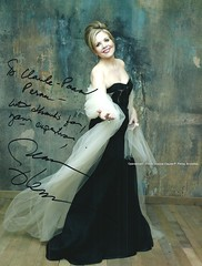 """FLEMING, Renée, US soprano, """"with thanks for your expertise"""" ... to Claude-Pascal Perna (Operabilia) Tags: operabilia claudepascalperna opera lirica musicologie musicology testimonials references operasingers artists credentials interview soprano reneefleming"""