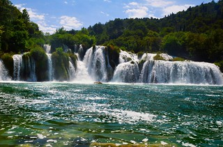 I'm in love with this place..These fantastic waterfalls are located in Split, Croatia. Their name is KRKA Waterfalls!