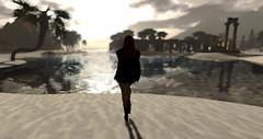 Sun Gazing (G. Inc.) Tags: secondlife 3d rendering virtualworld seaside avatar sl beach sun lindenlab landscape