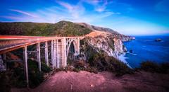 Bixby Bridge, Big Sur, CA (Darcey Prout) Tags: d800 bixby bigsur california coast ocean west lights trails hdr bluehour nikon usa us ca