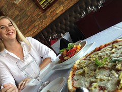 Italian Lunch With a Blond (Spebak) Tags: spebak lunch food dining pizza salad blond blonde blondehair woman restaurant eating