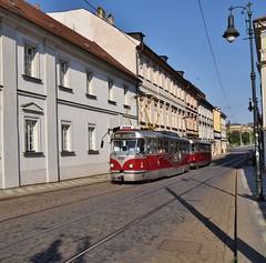 DPP 8267+8567 Letenská Praag (eddespan (Edwin)) Tags: dpp praag prag praha prague tram streetcar strasenbahn tramway tramvaj trolley tsjechië czech czechrepublic tschechien českárepublika hoofdstad tatra