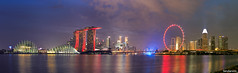 Singapore Panorama (fandarwin) Tags: singapore panorama marina bay sands mbs flyer gardens by darwin fan fandarwin olympus omd em10