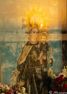 Virgen del Carmen en las playas de Málaga