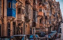 Republic Street, Valetta. Walking to St. Elmo's Fort... (Ula P) Tags: street people balconies malta valetta beauty sony sonyaplha summer exploring