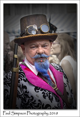 Blue Beard (Paul Simpson Photography) Tags: steampunk asylumsteampunk lincoln lincolnshire augustbankholidayweekend sonya77 bluebeard hat goggles man cosplay costume gun fancydress england eccentric viewsof imageof imagesof photoof photosof blazer