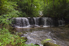 Gentle Falls on the North Pacolet River (rschnaible (On Holiday)) Tags: saluda north carolina the south blue ridge mountains pacolet river water stream hike hiking outdoor landscape woods forest waterfall