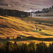 Beautiful sunrise on the meadows of Alpe di Siusi