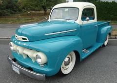 1951 Ford stepside pickup truck (D70) Tags: 1951 ford stepside pickup truck langleygoodtimescruisein 2018 aldergrove britishcolumbia canada sony dscrx100m5 ƒ56 88mm 1125 125