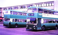 Slide 121-22 (Steve Guess) Tags: london country northeast bus stevenage herts hertfordshire england gb uk leyland atlantean an