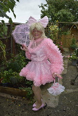 _DSC0074 (DonnaLouise) Tags: pink sissy frilly parasol mini short