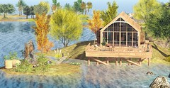 Ammos Homes (MoonsoulResident) Tags: home homeandgarden house fall autumn landscape island riverhome secondlife property rental