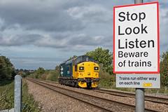 Colas Rail Freight Class 37 37025 'Inverness TMD' (Barry Duffin) Tags: train railway locomotive lightengine 0z37 37025 colas class37 netherfield nottingham derby derbyrtc fermepark nikon d500 35mm
