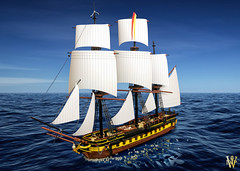 Ship-tember: am I doing this right? (Dread Pirate Wesley) Tags: lego moc ship sail sailing creation model ageofsail shipoftheline tallship frigate hmssurprise