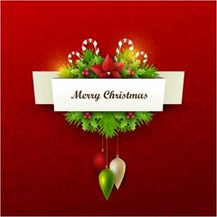 free vector Merry Christmas Ribbon Wreath Background (cgvector) Tags: