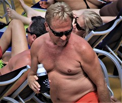 people on cruise pool deck (miosoleegrant2) Tags: ship deck cruise vacation sea pool swim barechest naked bare chest swimsuit swimwear sunning male men hunk muscle masculine pecs torso guy chested buzz armpits hairy nipples abs navel outdoor water swimming sport husky burly strapping brawny speedo people belly